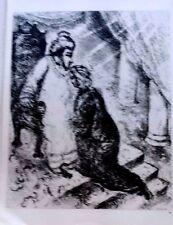 Marc Chagall offset lithograph Bible  paris maeght 1960 original  2 sided 124