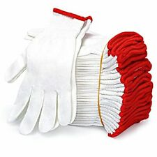 12pairs Cotton Work Gloves Safety Protection Work Gloves For Painter Mechanic