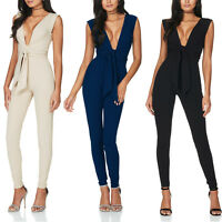 Sexy Women Lady V Neck Jumpsuit Bodycon Party Playsuit Trousers Clubwear Romper