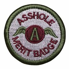 a Hole Merit Badge Police Military Tactical Morale Hook & Loop Patch Multicolor