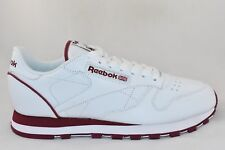 Mens Reebok Classic Leather Wht/Brg Trainers RRP £69.99 Sizes 12 & Above !!!