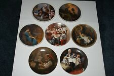 New ListingLot of 7 Norman Rockwell Collector Plates, Edwin Knowles w/Coa, Pamphlet