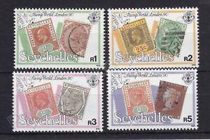 SEYCHELLES MNH STAMP SET 1990 STAMP WORLD LONDON SG 771-774