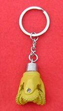 Oilfield Tricone Rock Bit Key Chain Key Ring Jewelry Roughneck Oil Rig Yellow