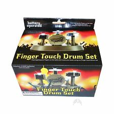 Finger Touch Mini Drum Set W/Lights Battery Operated Music NEW