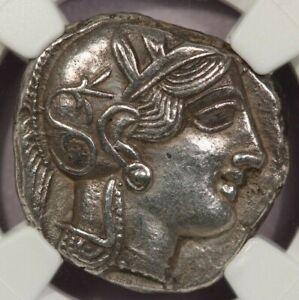 440-404 BC Attica, Athens AR Tetradrachm 16.73g obv Athena NGC AU B-1