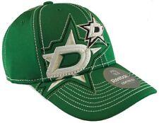 Dallas Stars NHL Reebok Draft Hat Cap Green Silver Stitched Adult Flex Fit L/XL