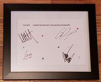 The 1975 Band Signed A Brief Online Relationships CD Framed Autographed Bundle