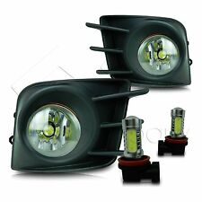 11-13 Scion TC Fog Lights w/Wiring Kit & High Power COB LED Bulbs - Clear