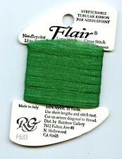 Rainbow Gallery Flair F533 Med Christmas Green Stretchable Tubular Ribbon 10yds