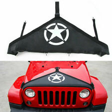 Star Hood Cover Front End Bra Protector V-Hood Covers For Jeep Wrangler 07-2018