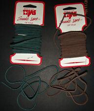 "Tejas Genuine Suede Lace Cord 1/8"" Dark Brown + Hunter Green. 5120-02 & 5120-24"
