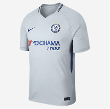 Men's 2017/18 Team Chelsea Football Club FC 3rd Away Grey Stadium Jersey Large