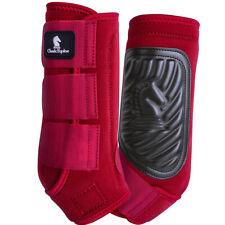 Aigend Bota de Caballo Delantera Trasera 2 Pares de Botas de Caballo el/ásticas Gruesas PU Botas traseras Delanteras Protector de piernas para Entrenamiento de Salto