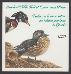 FWH6 1990 WOOD DUCKS BY MICHAEL DUMAS, FEDERAL WILDLIFE CONSERVATION & STAMP