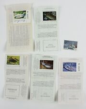 Group of 5 Wisconsin Trout Fishing Licenses with Stamps 1982-1996 + Waterfowl