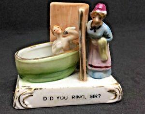 """Victorian fairing German Conta+Boehme - """"DID YOU RING,SIR?"""" gentleman bath maid"""