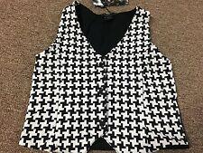 NWT FLOWERS BY ZOE Girls Skull Herringbone Vest Size 6X