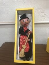 Vintage Pelham Sm2 Witch Wooden Puppet In Original Box