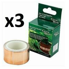 3 x GreenBlade Slug Snail Repellent Copper Tape Plant Protection 4m x 30mm Roll
