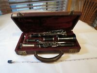 Bundy Resonite Selmer Clarinet VINTAGE with case antique student black made USA~