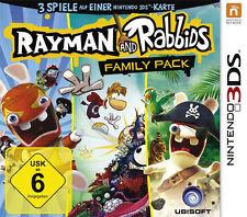 Nintendo 3DS Spiel * Raving Rabbids + Rumble + Rayman Origins 3er Pack **NEU*NEW