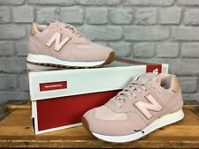 NEW BALANCE LADIES UK 6 EU 39 PALE PINK SUEDE TRAINERS MESH NUDE RRP £65 J