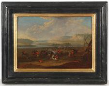 "Karel Breydel (1678-1733)-Attrib. ""Battle Scene"", oil on panel, early 18th C."