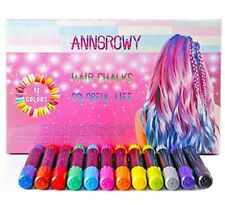 12 Colors Hair Chalk for Girls Kids Face Paint Temporary Hair Chalks pens for An