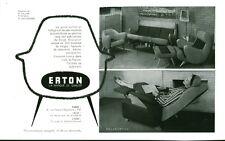 Publicité ancienne fauteuils relax Erton 1959