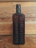 Antique Dr J Hostetter's Stomach Bitters Embossed Brown Bottle