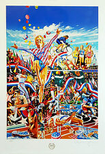Hiro Yamagata, Summer Olympic Games, Limited Edition Serigraph Signed & Numbered