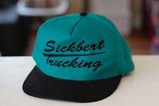 Rare Vtg Sickbert Trucking Trucks Snapback Hat Cap