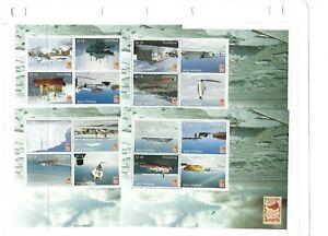 MINT 2006 NZ NEW ZEALAND KIWIPEX ANTARCTICA MINI SHEET SET OF 4 MINI sHEeTS