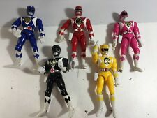 Set Of 5 Bandai 1994 MIGHTY MORPHIN POWER RANGERS 8-Inch Action Figures