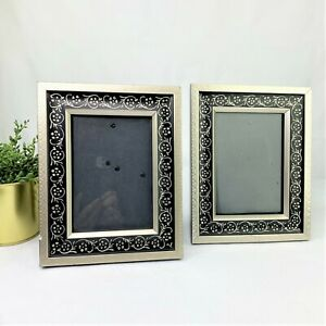 Set of 4 Antique Style Black and Gold 8x10 Picture Frames