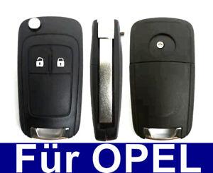 2Tasten Ersatz Klappschlüssel Gehäuse für Opel Astra J Insignia Corsa E Meriva B