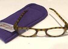 American Girl Doll Eye Glasses CHOCOLATE brown Turquoise RETIRED /& Felt Case