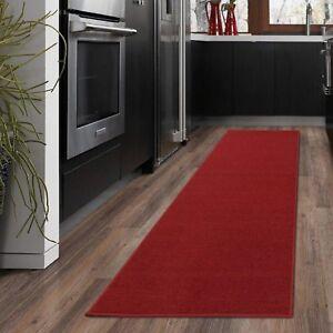 "Fashionable Carpet Aisle Solid Hallway Kitchen Runner Rug 20"" X 59"" RED Non-Slip"