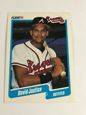 1990 Fleer Baseball - David Justice - Card # 586 - Rookie Card