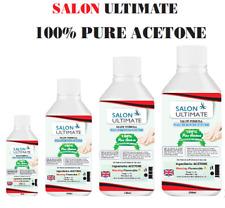 100% Acetone High Quality Nail Gel Polish Remover UV/LED Nail Polish Cleaner UK*
