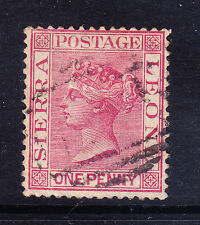 SIERRA LEONE QV 1883 SG24 1d rose-red P14 wmk Crown CC good to fine used cat £35