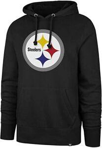 Pittsburgh Steelers Men's Team Logo Pullover Hoody Sweatshirt - Black