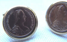 Vintage 50er Jh. Maria Theresia Cufflinks Manschettenknöpfe Gold Double Nr.4