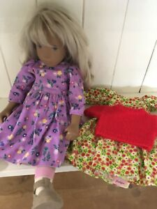 Pretty Sasha Doll Clothing 2 X Dresses + Jumper Handmade (No doll)