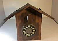 Vintage Antique Cuckoo Clock Black Forest Germany Wooden Case Rebuilding Parts