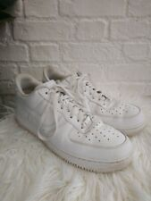 Men's Nike Air Force 1 '07 Low Size UK 12 EU 47.5 Trainers Triple White Leather