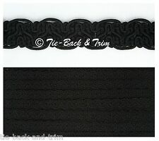5 Metres of 8519 Silky Braid Gimp 15mm Trimmings Upholstery Craft Edging Trim 700 Black