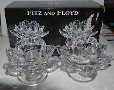 Fitz and Floyd Set of 2 Lotus Votive Tea Light Candle Holders
