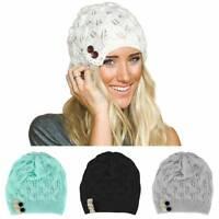 Stylish Women Winter Warm Beret Braided Baggy Knit Crochet Beanie Hat Ski Cap